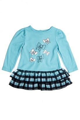 Carters Kids Clothes Print Knit Dress Size 12M - 24M -  Turquoise Bows