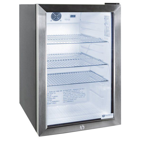 Excellence Emm 3hc Black Countertop Display Refrigerator With