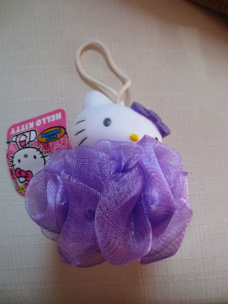 Girl Hello Kitty Bath  Squirter With Sponge Pink Shaped Kitty Face New  #HelloKitty