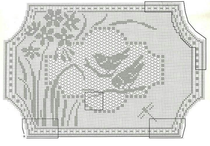 Mary Card filet crochet pattern