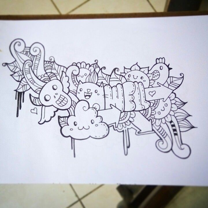 Un #doodle de que me encantó! #wellintencion #draw #kawaii #zentangle #zendoodle #sketch