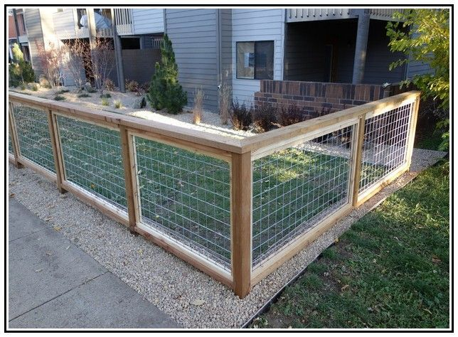 Image Gallery Home Depot Wire Fencing Hog Wire Fence Backyard Fences Wire Fence