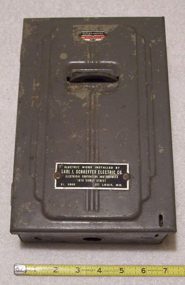 Vintage Cutler Hammer 30 Amp Electrical Fuse Box Box
