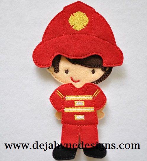 Non Paper Dolls offered by Stone House Stitchery **Outfit Only** Fireman Outfit for BOY Felt Non Paper dolls