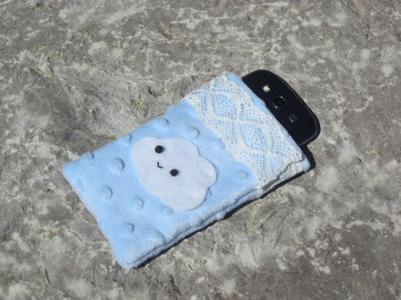 Cute Cloud Phone Pouch by KissedByACloud on Etsy