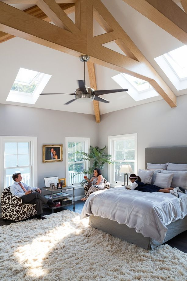 Porch   Bedroom with Exposed Beams and Shag Rug from Hibbs Homes  LLC    Shag RugsBeautiful BedsExposed. 263 best Beautiful Beds images on Pinterest   Beautiful beds