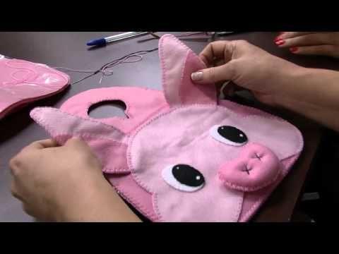 Lixeirinha para Carro Porquinha – Andrea Quagliato – Parte 1 | Cantinho do Video Costura em Roupas