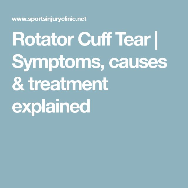 Rotator Cuff Tear | Symptoms, causes & treatment explained