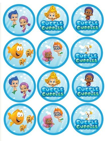 544 best images about cupcake toppers on pinterest balloon cupcakes party printables and - Bubble guppies birthday banner template ...