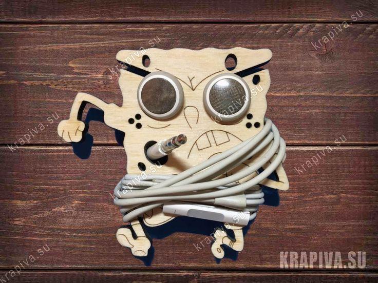 Брелок для наушников Губка Боб - krapiva.su Laser