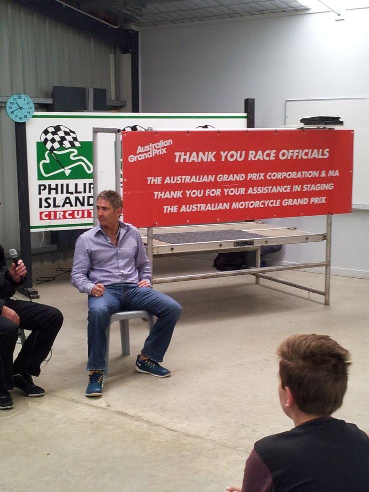 Michael Doohan Q&A session at Phillip Island Grand Prix Circuit.