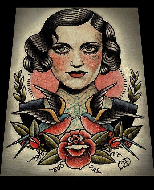 Chapaleta y golondrinas Art Print