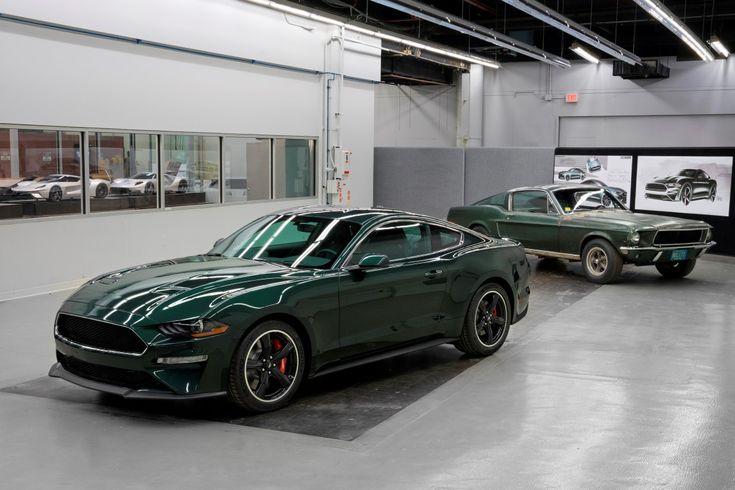 2019 Mustang Bullitt with original Bullitt movie Mustang