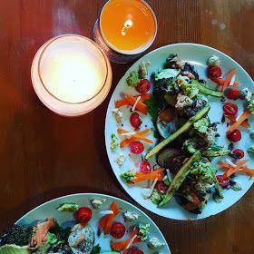 Warm Winter Salad http://adorkablesa.blogspot.co.za/2017/06/recipe-vegetarian-warm-winter-roasted.html