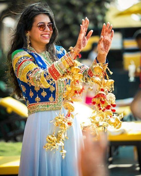Favourite moments captured are during the kaleere drop ! #BridalAccessories, #Kalire #indianwedding #shaadisaga