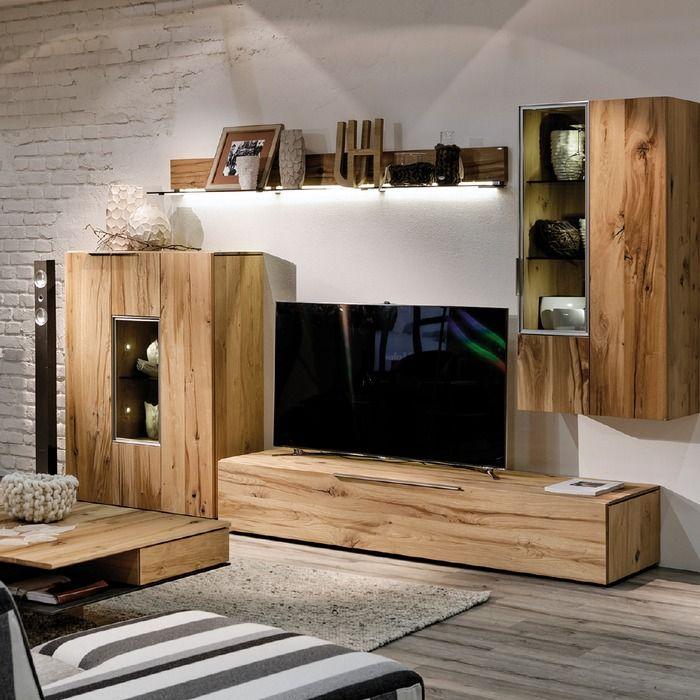 Voglauer Wohnwand V Alpin 308 4tlg Eiche Holz In 2020 Wohnen Wohnideen Haus Deko