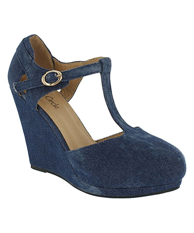 Look at this Red Circle Footwear Blue Kana Pump on #zulily today!