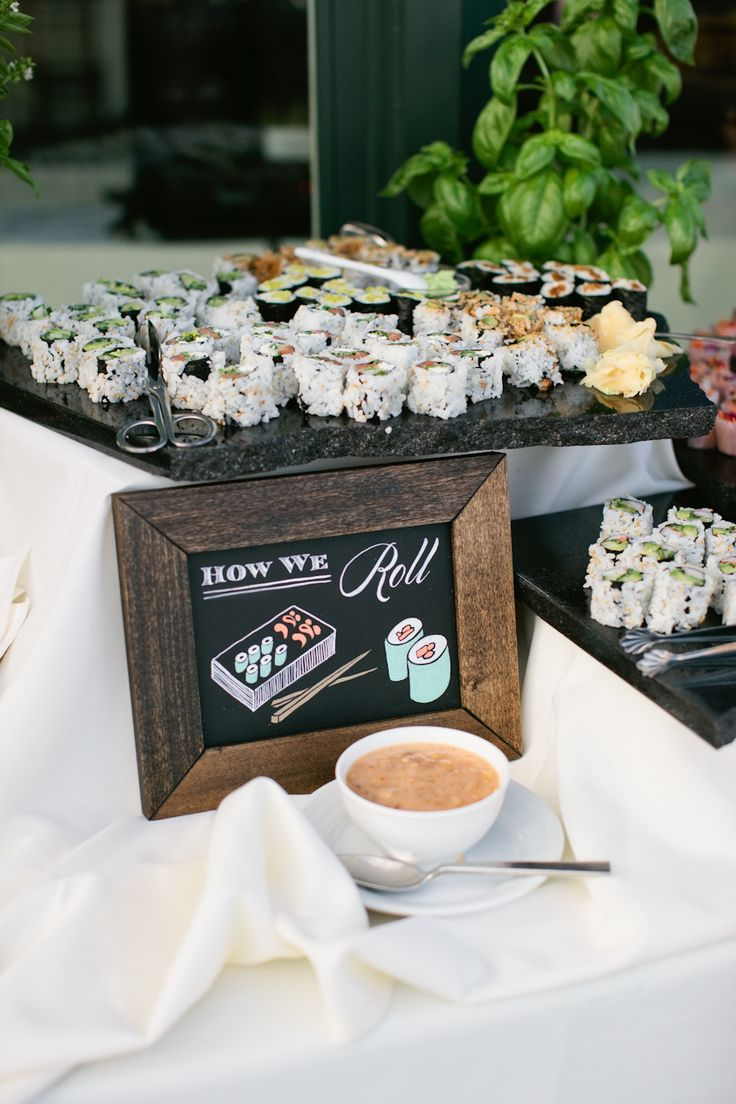 """How we roll"" sign for sushi bar. Photography: Meredith Perdue - www.meredithperdue.com"