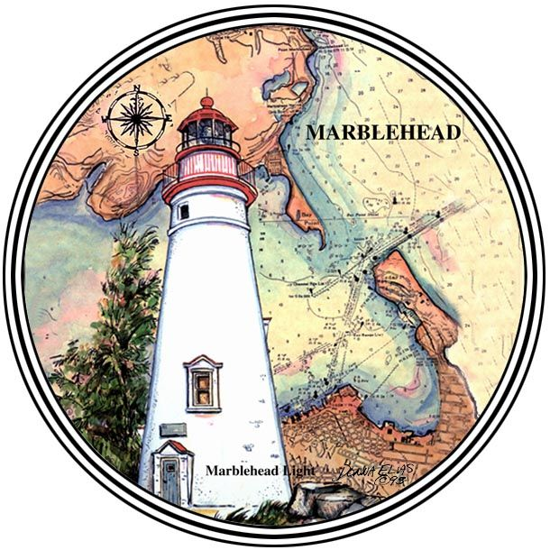Marblehead, OH Set of 4 Coasters