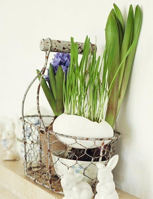 Ostern 2014 – coole Osterdeko selber basteln - ostern dekoration originell 2014 neu osterhasen
