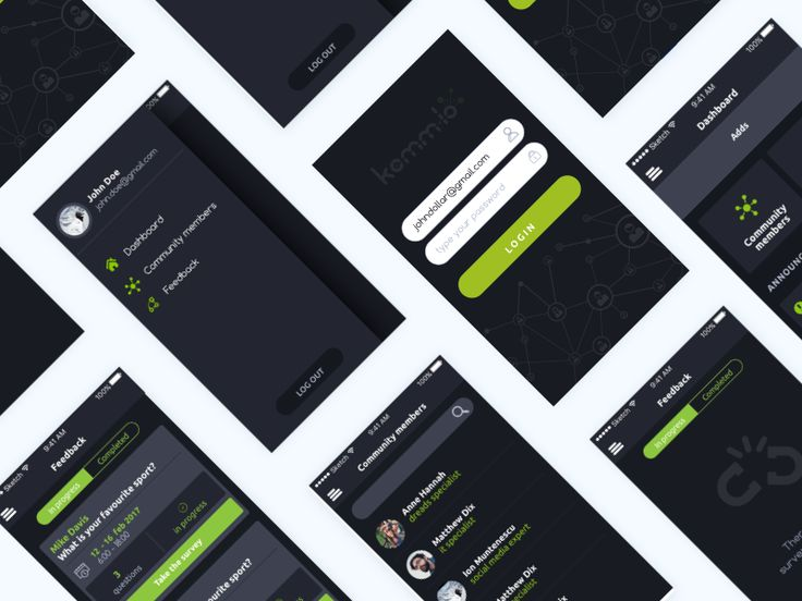 Community mobile app by Florentina Sarov