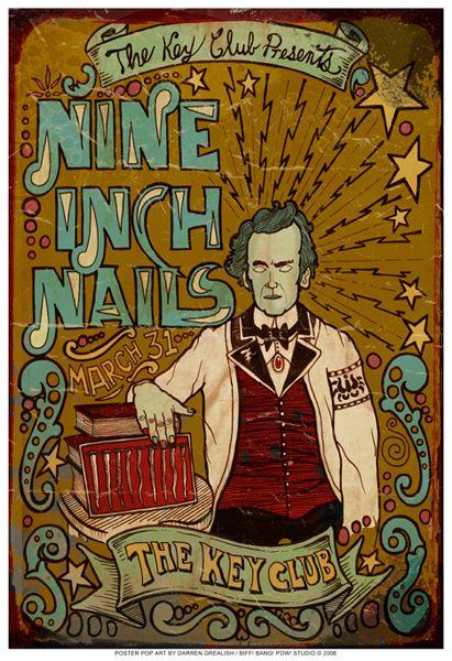 Nine Inch Nails Killer illustration  type poster!