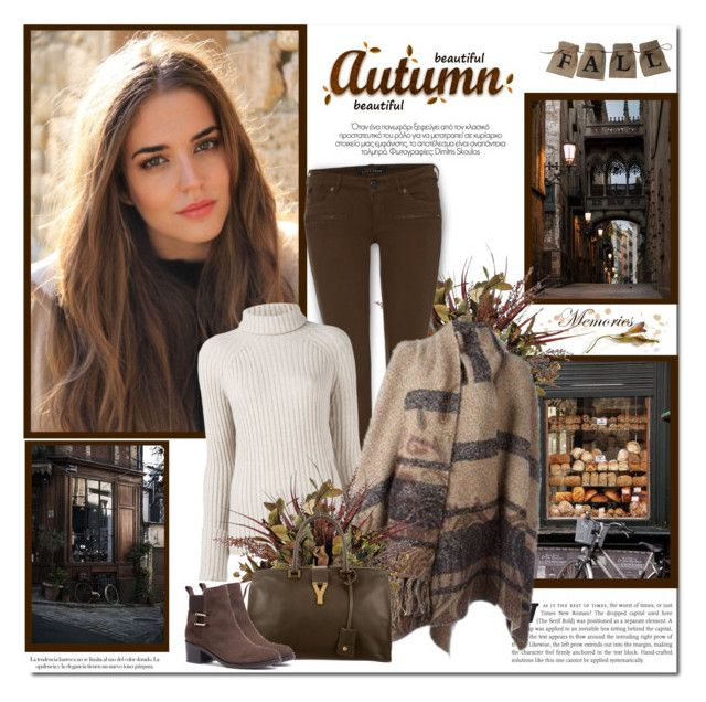 """Beutiful Autumn day!!"" by lilly-2711 ❤ liked on Polyvore featuring Maison Scotch, Erika Cavallini Semi-Couture and Yves Saint Laurent"