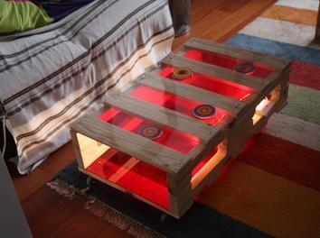 19 best meubles palette images on pinterest crates. Black Bedroom Furniture Sets. Home Design Ideas