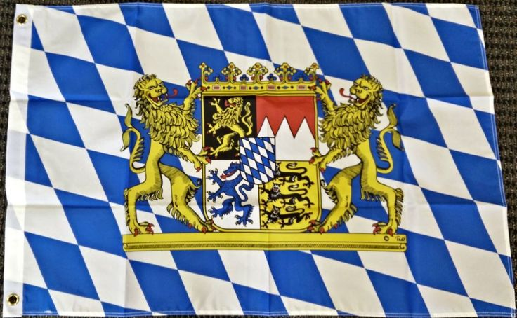 3x5 Bavaria Germany with Lions Bavarian German Oktoberfest Octoberfest Flag New #HomeandHolidayFlags
