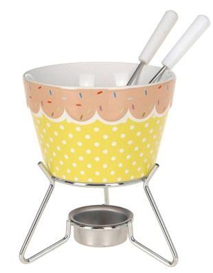 Zestaw do fondue, czekoladowego lub serowego. Co kto lubi :)
