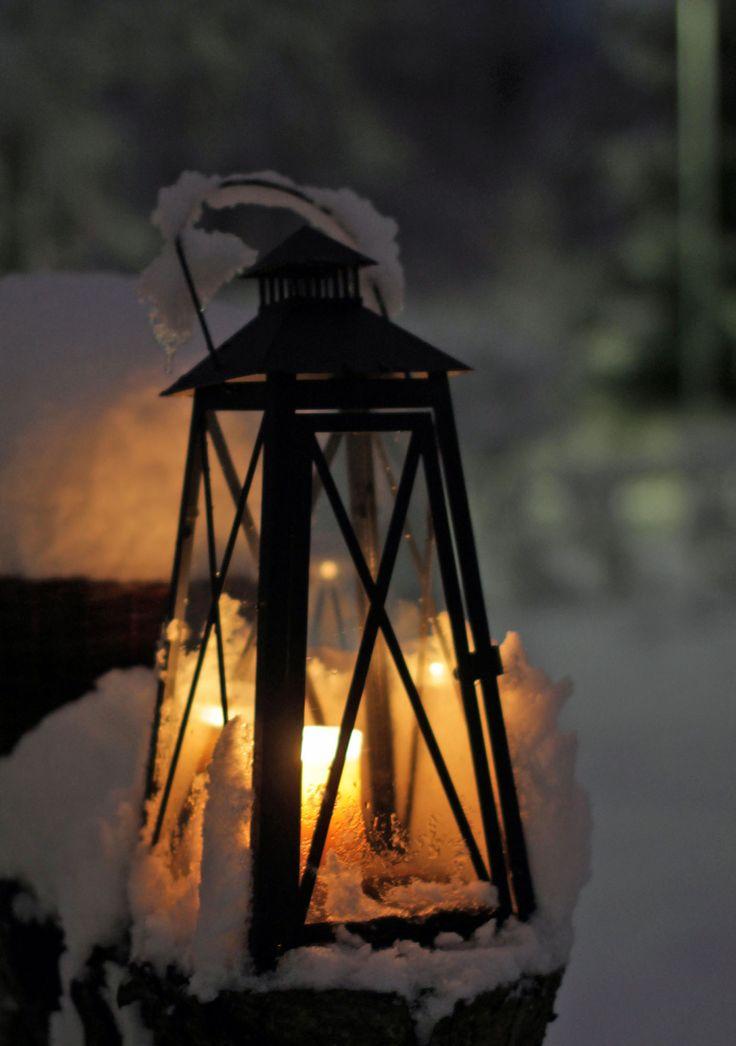 Kynttilälyhty ensilumi 2014 /  Candle lantern