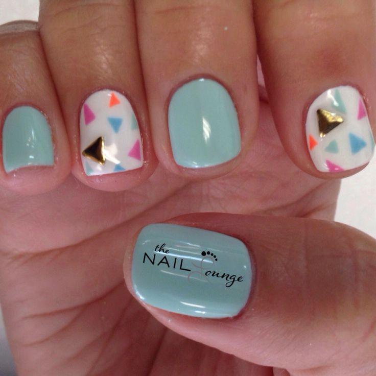 mint pastel spring gel nail art design nail art pinterest. Black Bedroom Furniture Sets. Home Design Ideas