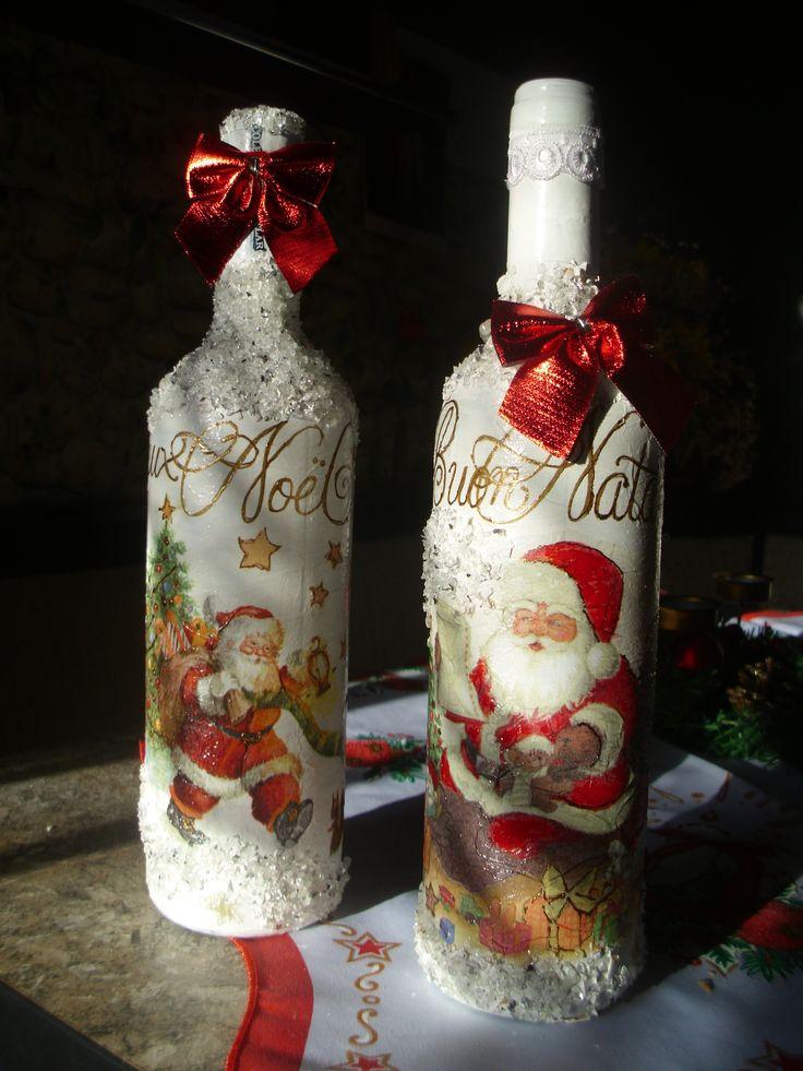 Bottles for Christmas celebration