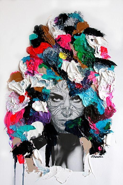 "Saatchi Online Artist: aga baranska; Assemblage / Collage, 2013, Mixed Media ""Flush"""