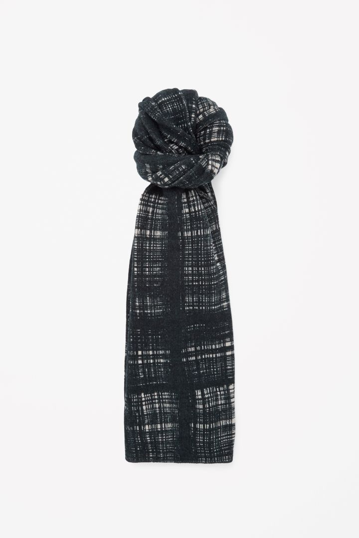 COS   Printed check scarf