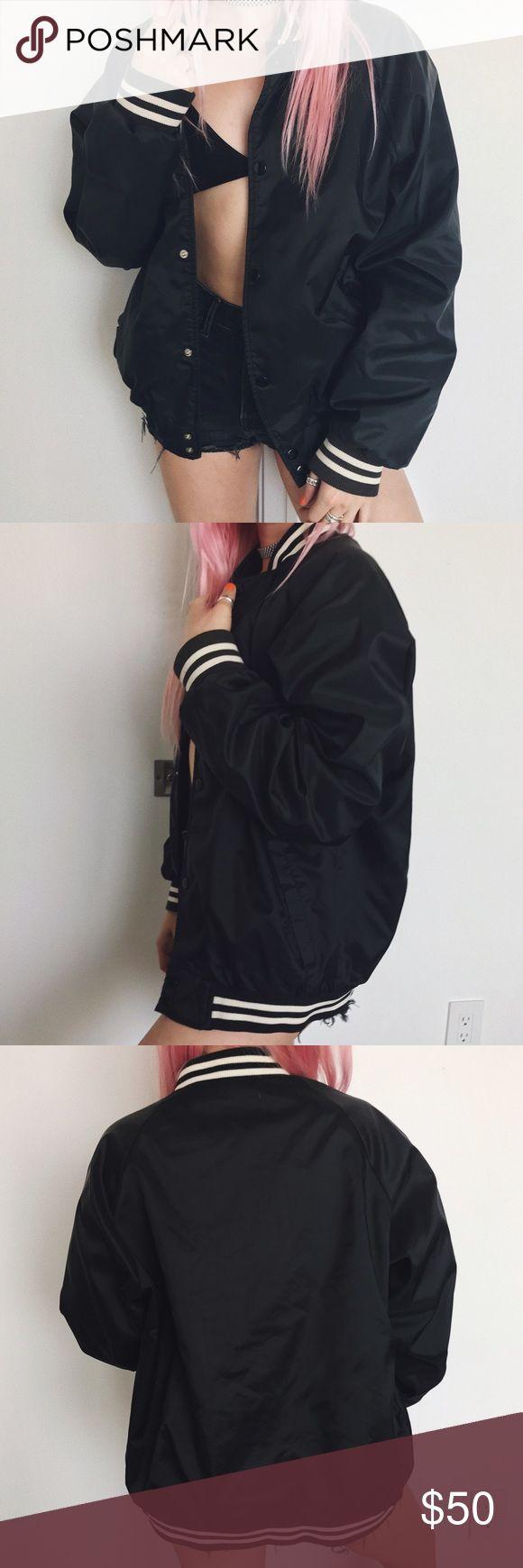 • vintage black baseball jacket • e Nasty Gal Jackets & Coats