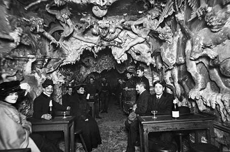 Inside 'Le Café de L'Enfer was a Hell-themed café in Paris' red light district (aka Pigalle, the neighborhood of the Moulin Rouge), created in the late 19th century and operating until sometime around the middle of the 20th.': Cabaret, Red Mill, Cafe Paris, Hells Cafe, 19Th Century, Of Lenfer, Photo, Café De, From Hell