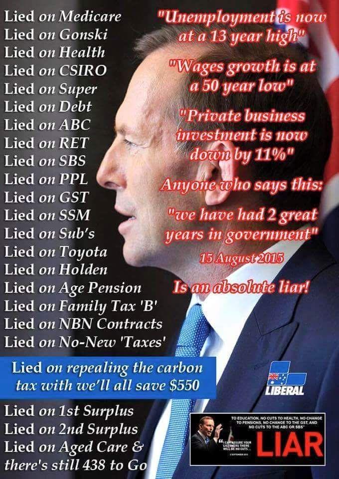 LIAR Tony Abbott #auspol