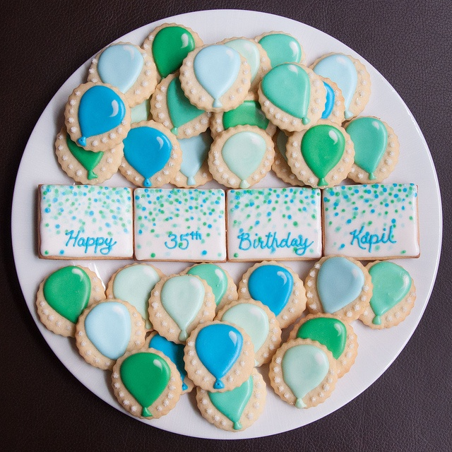 35th birthday cookies