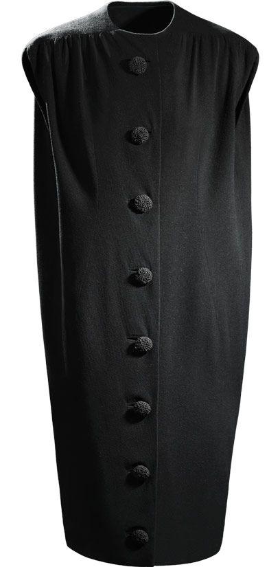 Vestido en crepé de lana de color negro. 1957. Cristóbal Balenciaga.
