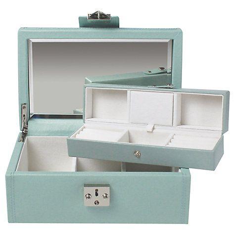 Buy LC Designs Pretty Jewellery Box, Duck Egg Blue, Medium Online at johnlewis.com
