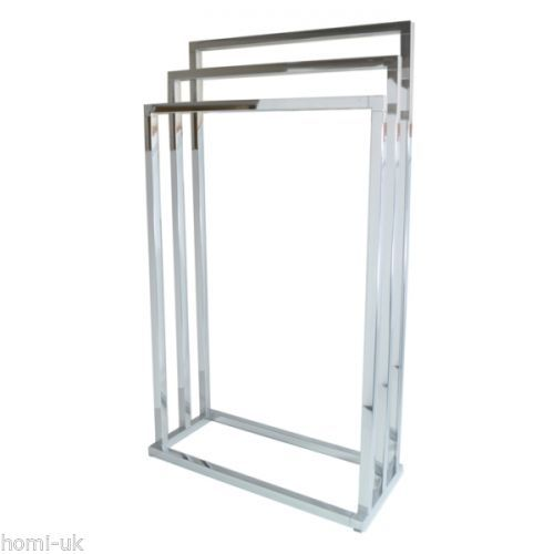 Free Standing Chrome Towel Rails For Bathrooms My Web Value