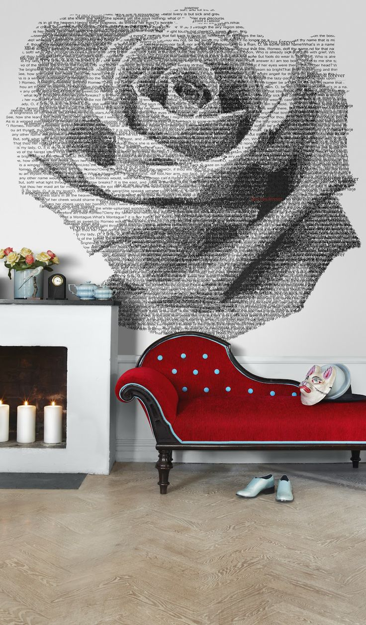 Words create Rose.  Finnish design - great details even down to the cat mask