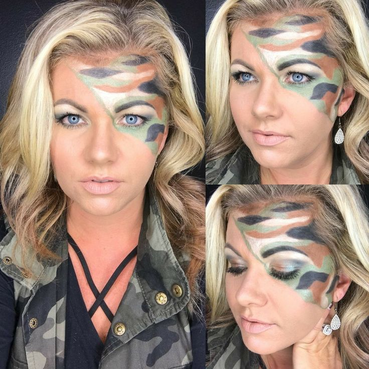 #Camo #Makeup . #Camouflage makeup.  #Fall #Look . All #Younique .