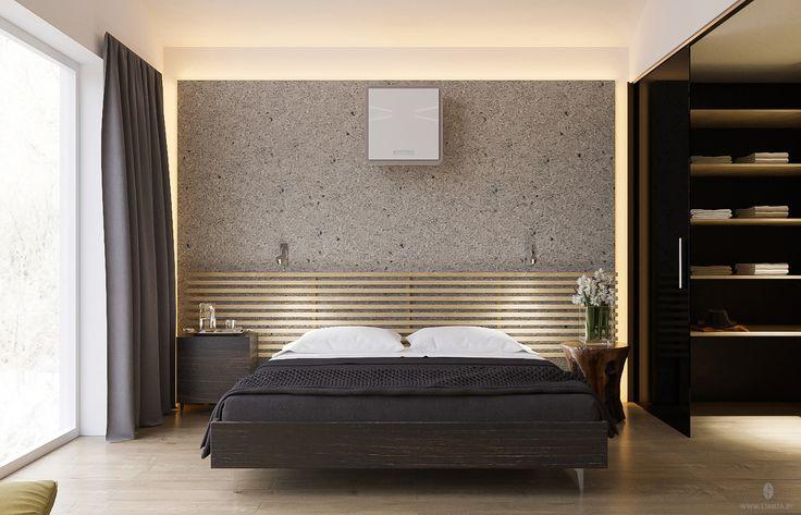 "Проект ""S.O.2"" от минской студии ""Станза"" в современном стиле (модернизм), спальня. | Project ""S.O.2"" by Stanza studio (Minsk, Belarus), style  modernism. #bedroom #design #interior #house #stanza_studio_minsk http://www.stanza.by/"