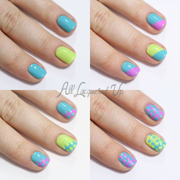 Easy Nail Art: Eye-Catching Dotting Tool Designs | Dot nail art, Art ...