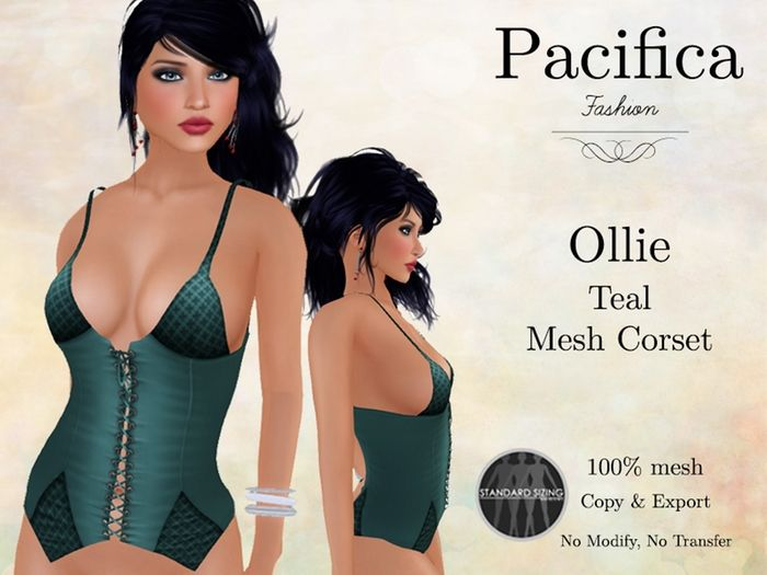 Pacifica Fashion - Ollie Mesh Corset   Kitely