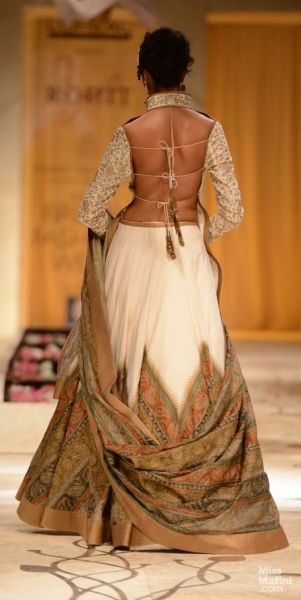 Rohit Bal. blouse design....