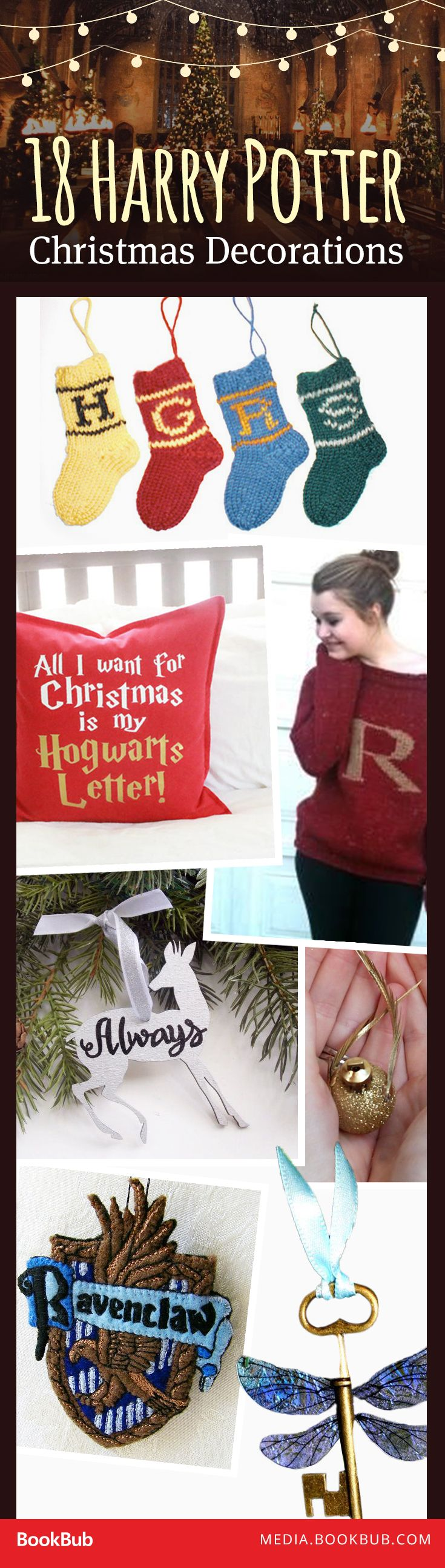 These Harry Potter decorations will bring some extra magic to your home over the holidays.