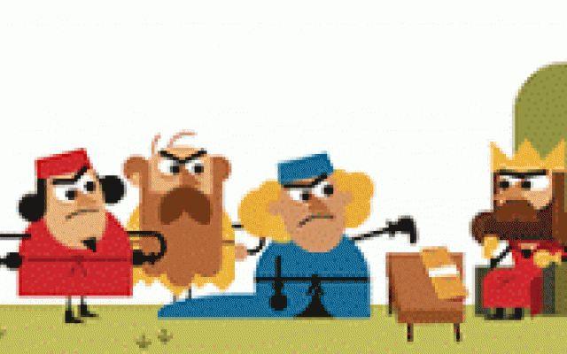 Il doodle di google per l'anniversario della magna carta #magna #carta #google #doodle